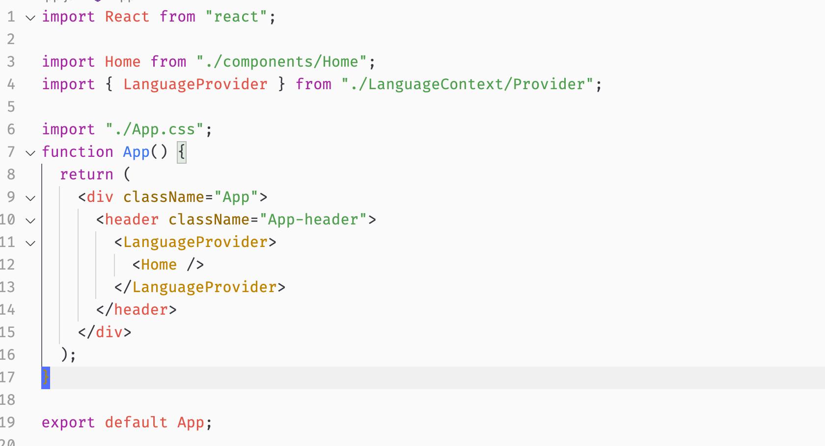 Wrap LanguageProvider at Root
