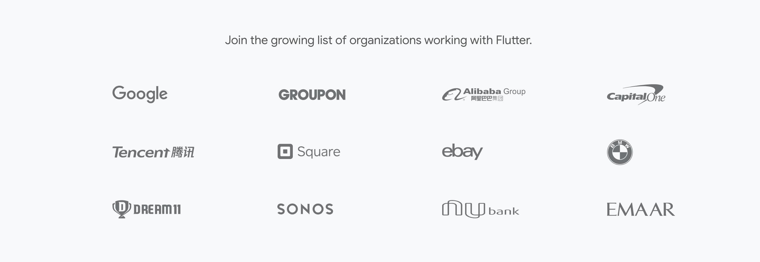 companies use flutter