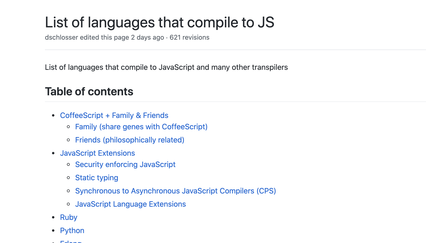 https://github.com/jashkenas/coffeescript/wiki/List-of-languages-that-compile-to-JS