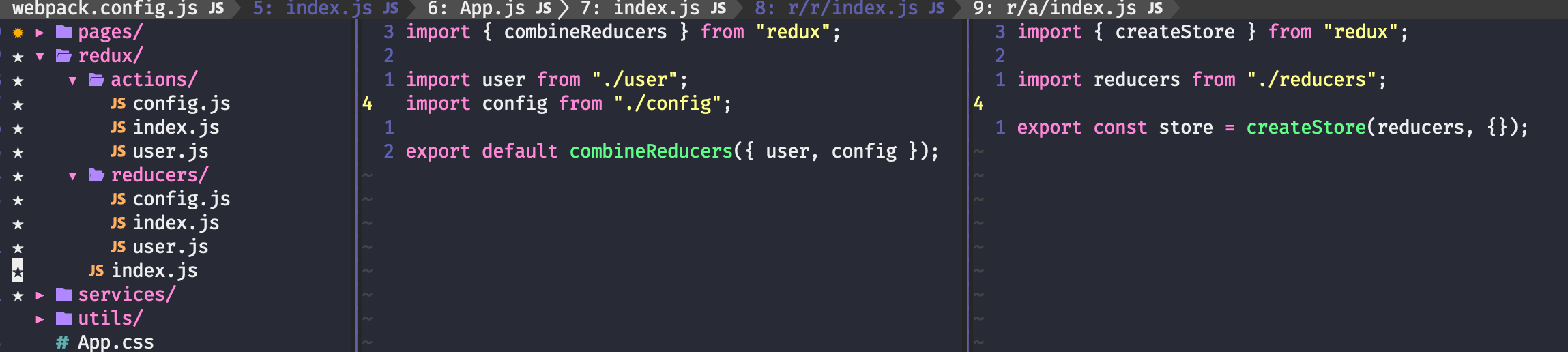 redux global reducers
