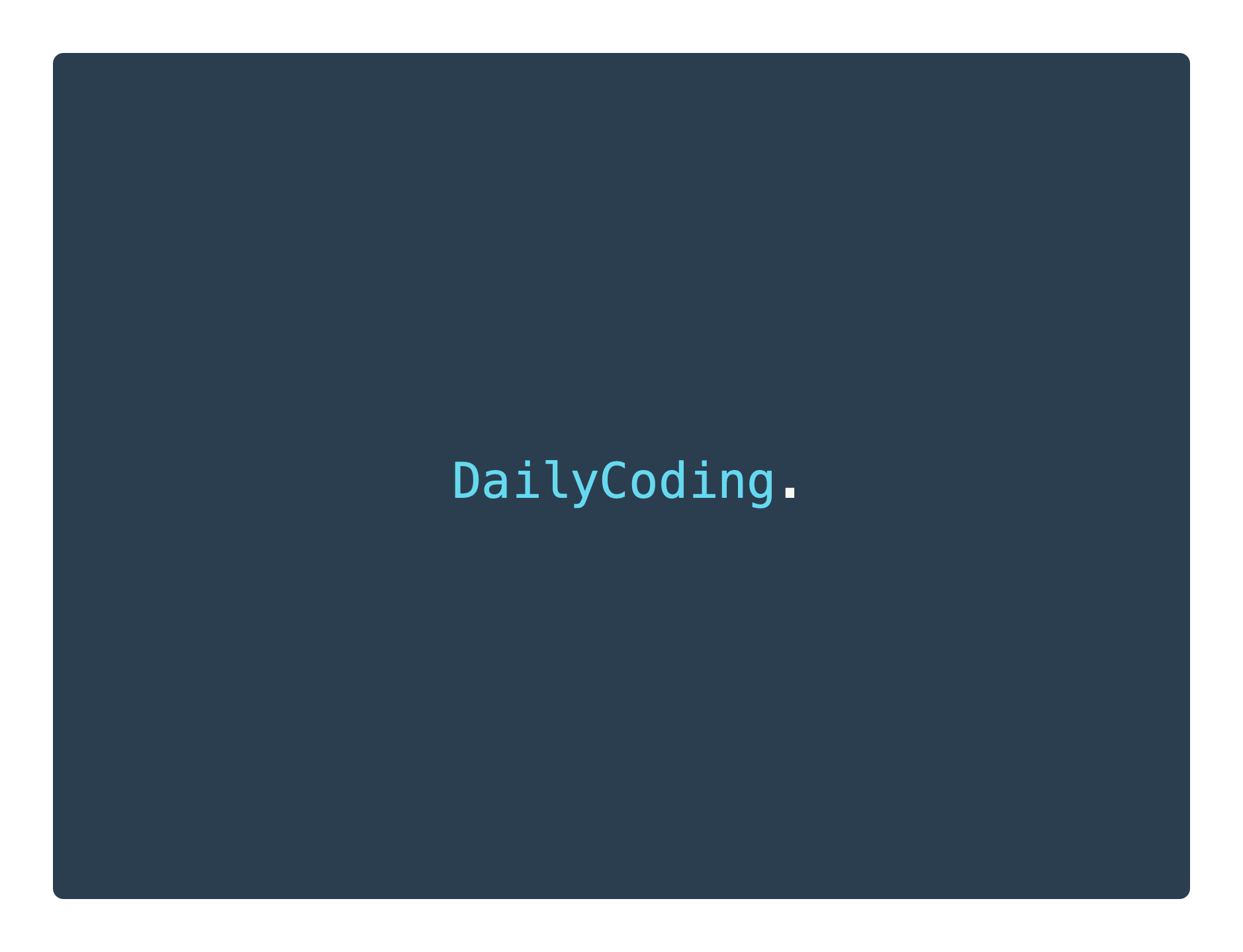 daily coding